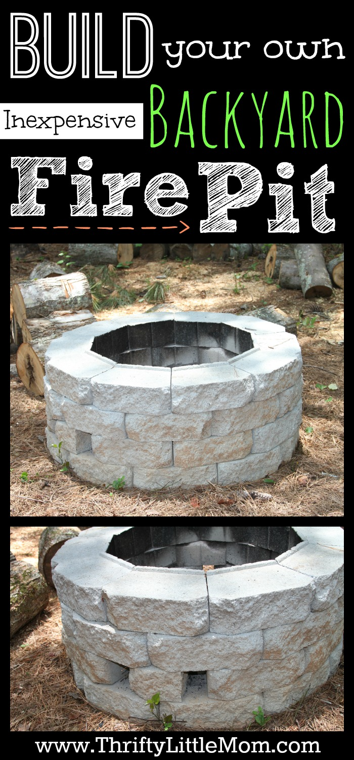 diy pit cheap and easy easy diy inexpensive firepit for backyard 187 thrifty