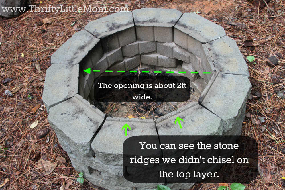 Easy diy inexpensive firepit for backyard fun thrifty little mom diy inexpensive firepit 4 solutioingenieria