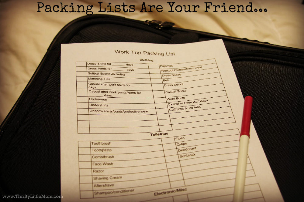 Packing List Pic