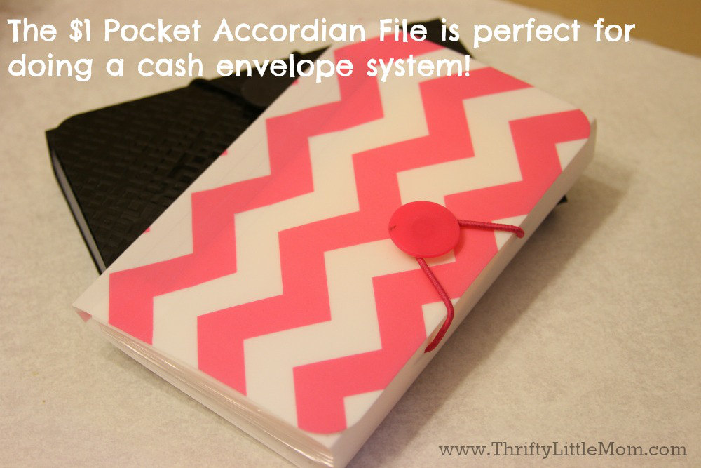 The Pocket File Accordian for Cash Budgets
