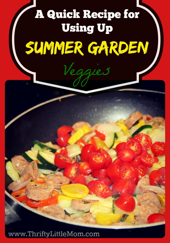 A Quick Recipe for Using Up Summer Garden Veggies Cover
