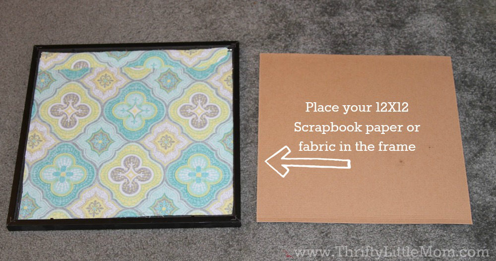 Place Your Fabric or Paper in the Frame