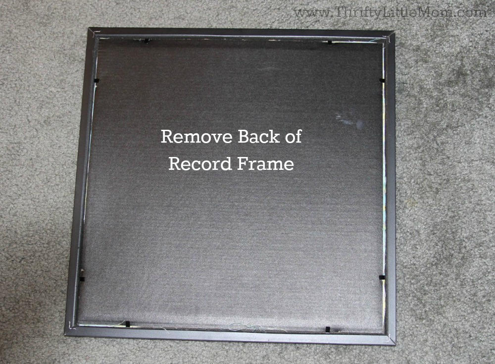 Remove Back of Record Frame
