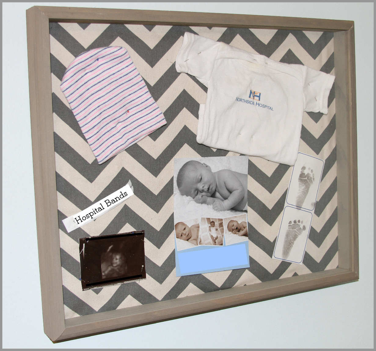 Baby Shadow Box For Keepsakes Step By Tutorial