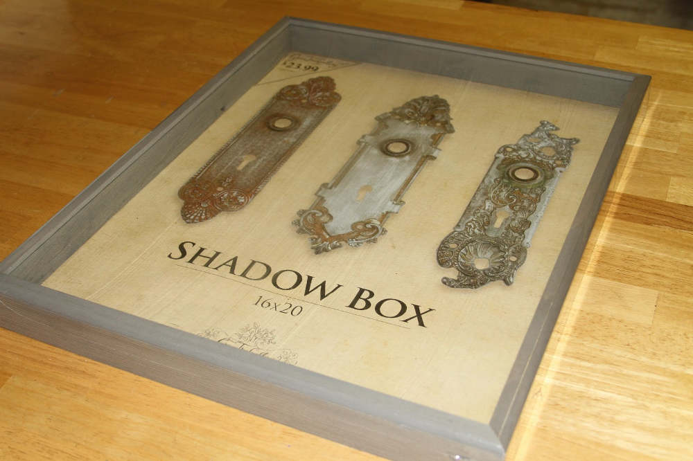Empty baby shadow box frame