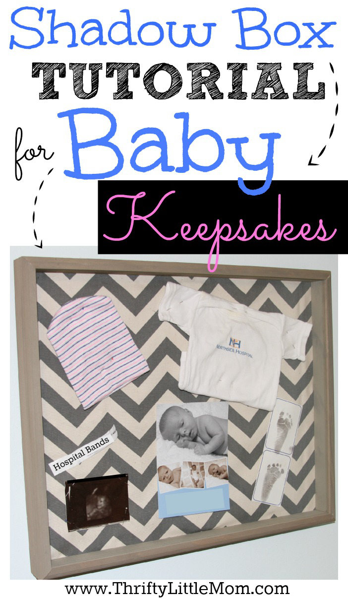 Shadow Box Tutorial For Baby Keepsakes