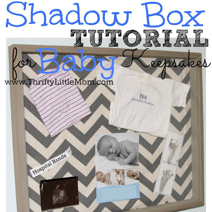 Shadow Box Tutorial for your baby keepsake items