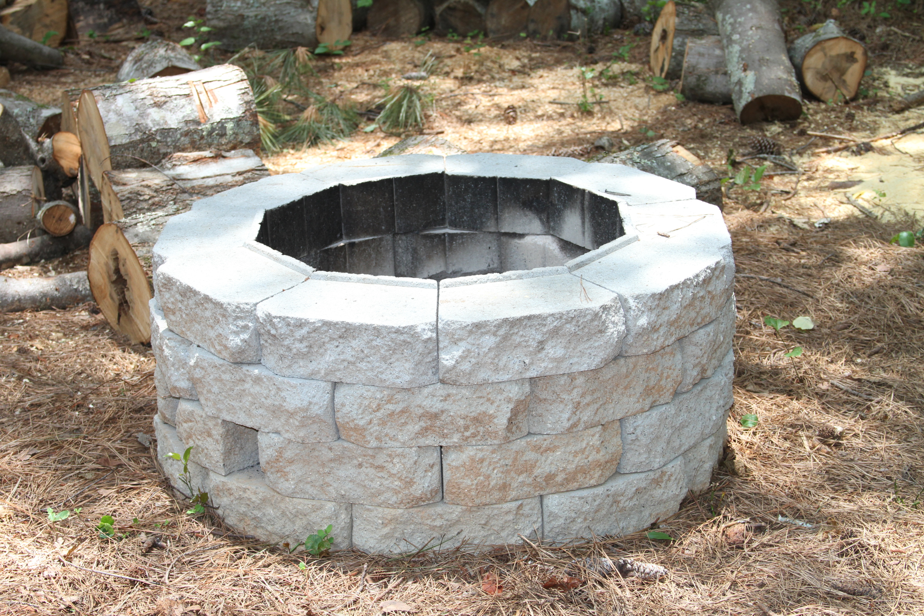 Easy DIY Inexpensive Firepit for Backyard Fun » Thrifty ... on Backyard Fire Pit Ideas Diy id=68408