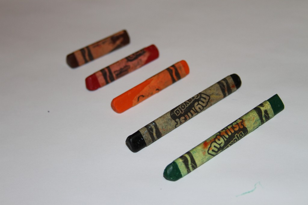 Triangular crayons stay put. These are my kids favorite as you can see by the wear and tear.