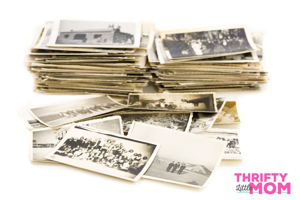 piles of old photographs