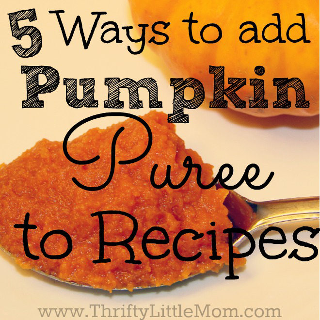 5 Ways to Add Pumpking Puree to Your Recipes