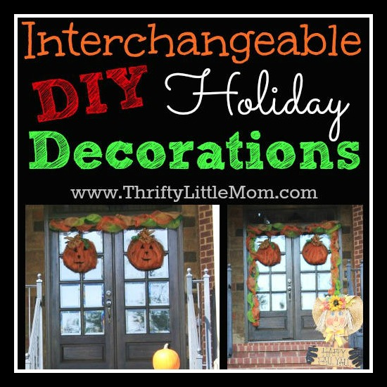 DIY Interchangeable Holiday Decorations