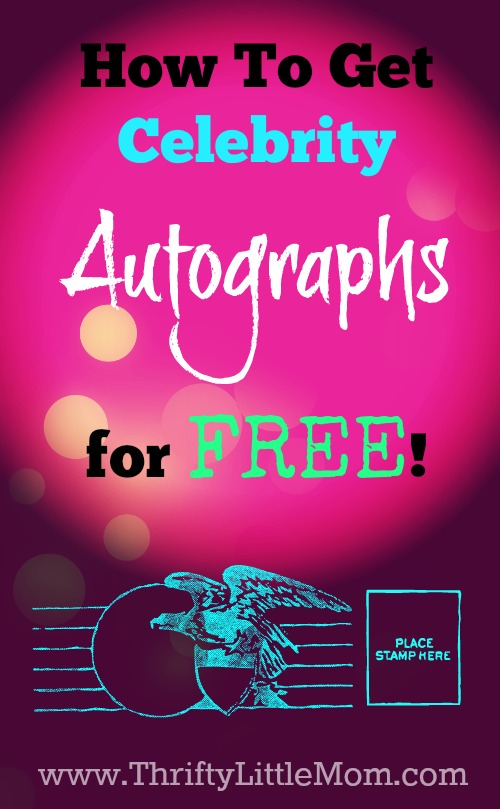 How to get celebrity autograph through the mail (TTM ...