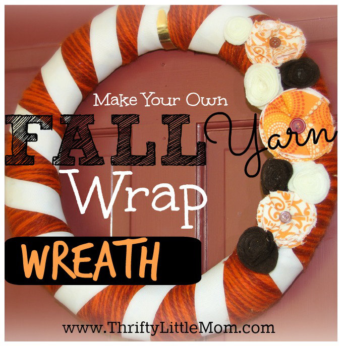 MAke Your own Fall Yarn Wrap wreath 2