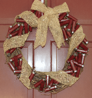 Shotgun shell wreath