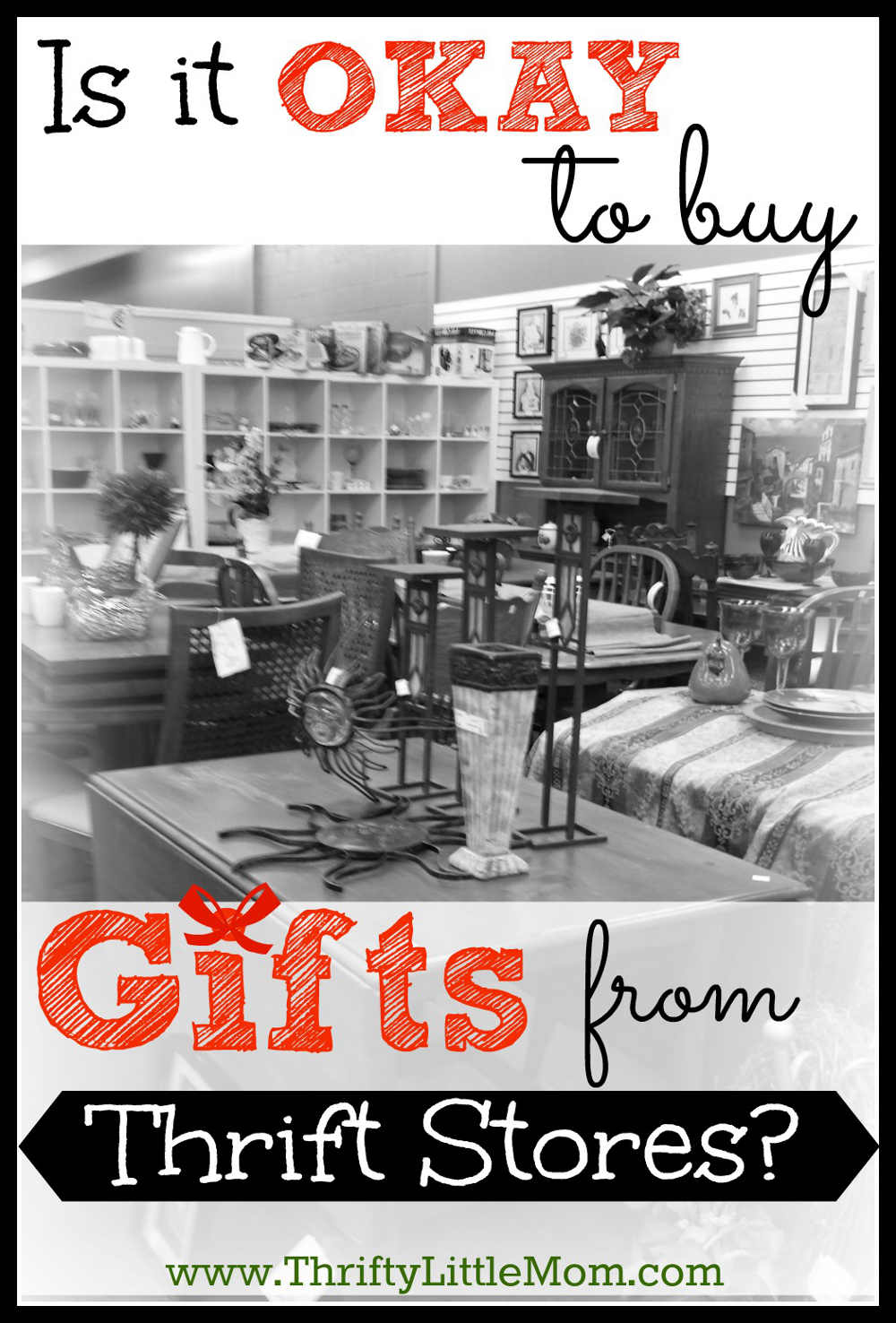 Is it okay to buy gifts from thrift stores. Check out this guide for do's and don'ts with thrift store gift shopping