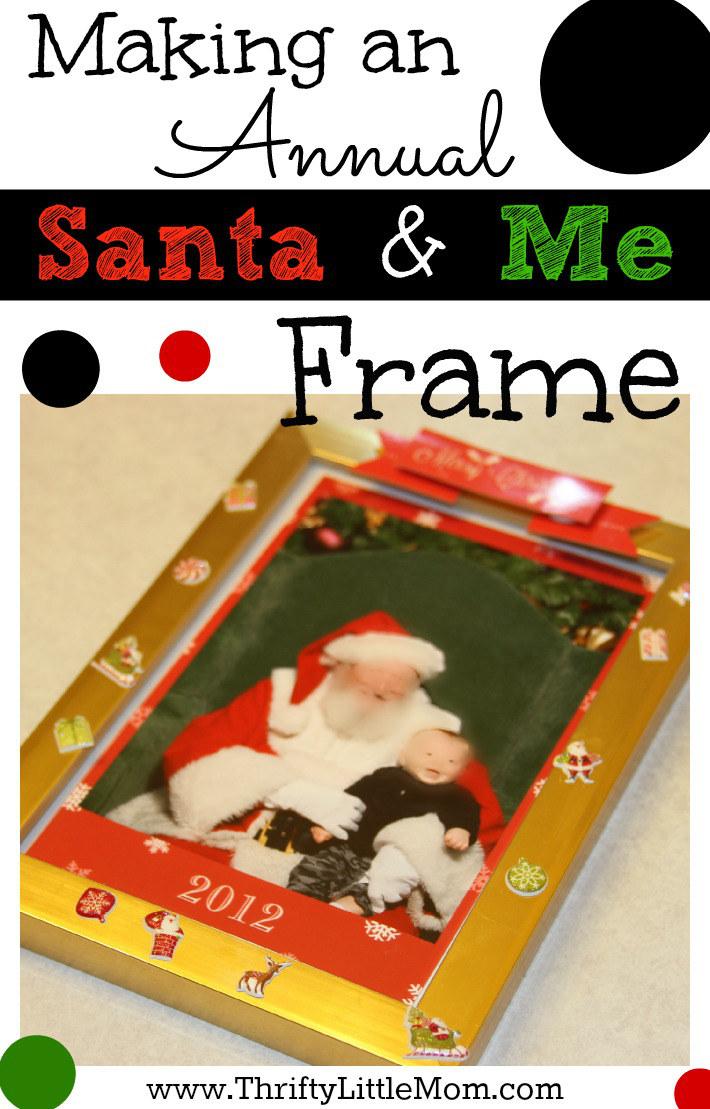 Making an Annual Santa and Me Frame