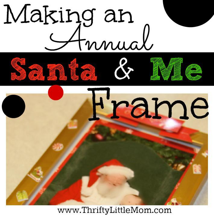 Making an annual santa claus and me frame