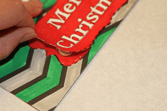 3-D Gift Bag Tag Closeup Shot