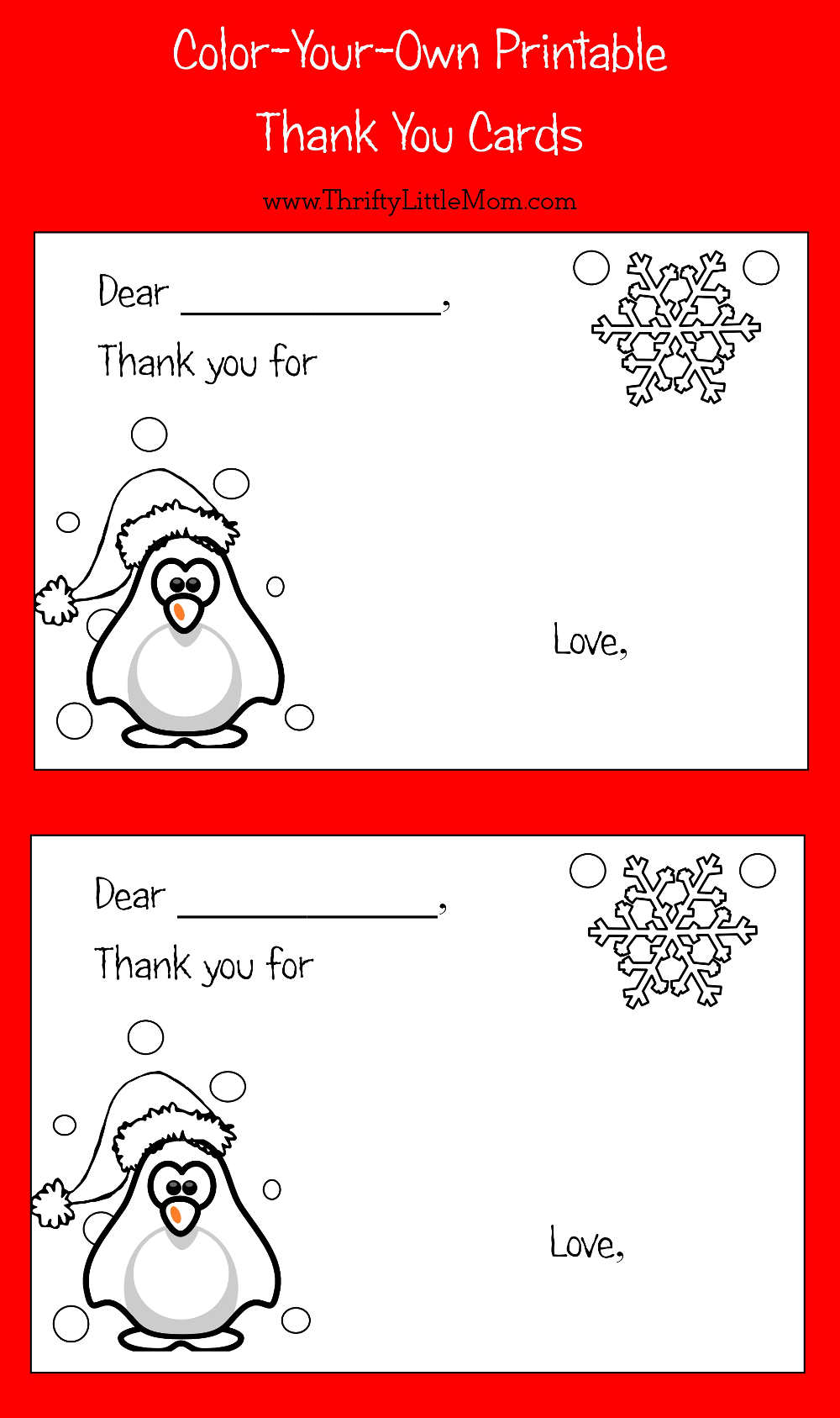 Color-Your-Own Printable Thank You Cards for Kids »