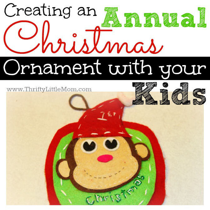 Creating an Annual Christmas Ornament With your kid