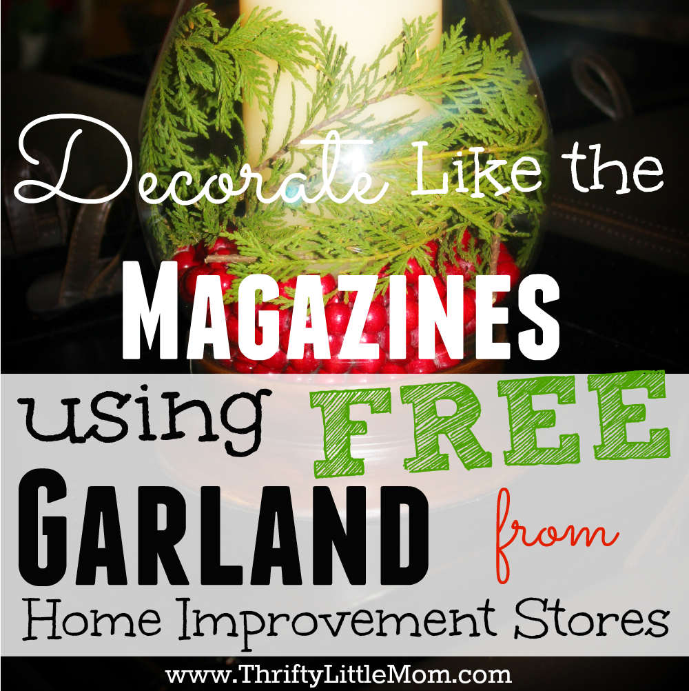 decorate the magazines using free garland from home improvement stores - Free Home Improvement Magazines
