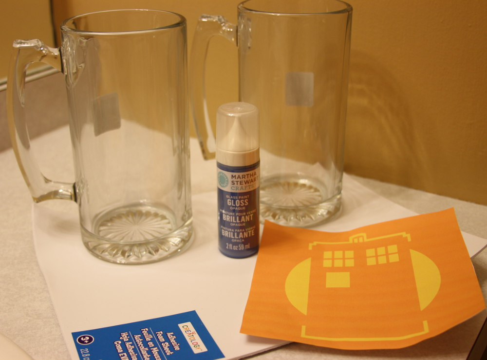 Paint Your Own Glassware Supplies