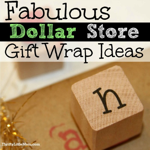 Make Dollar Store Gift Wrap Look Fabulous: Day 6 of Getting Into The Holiday Spirit