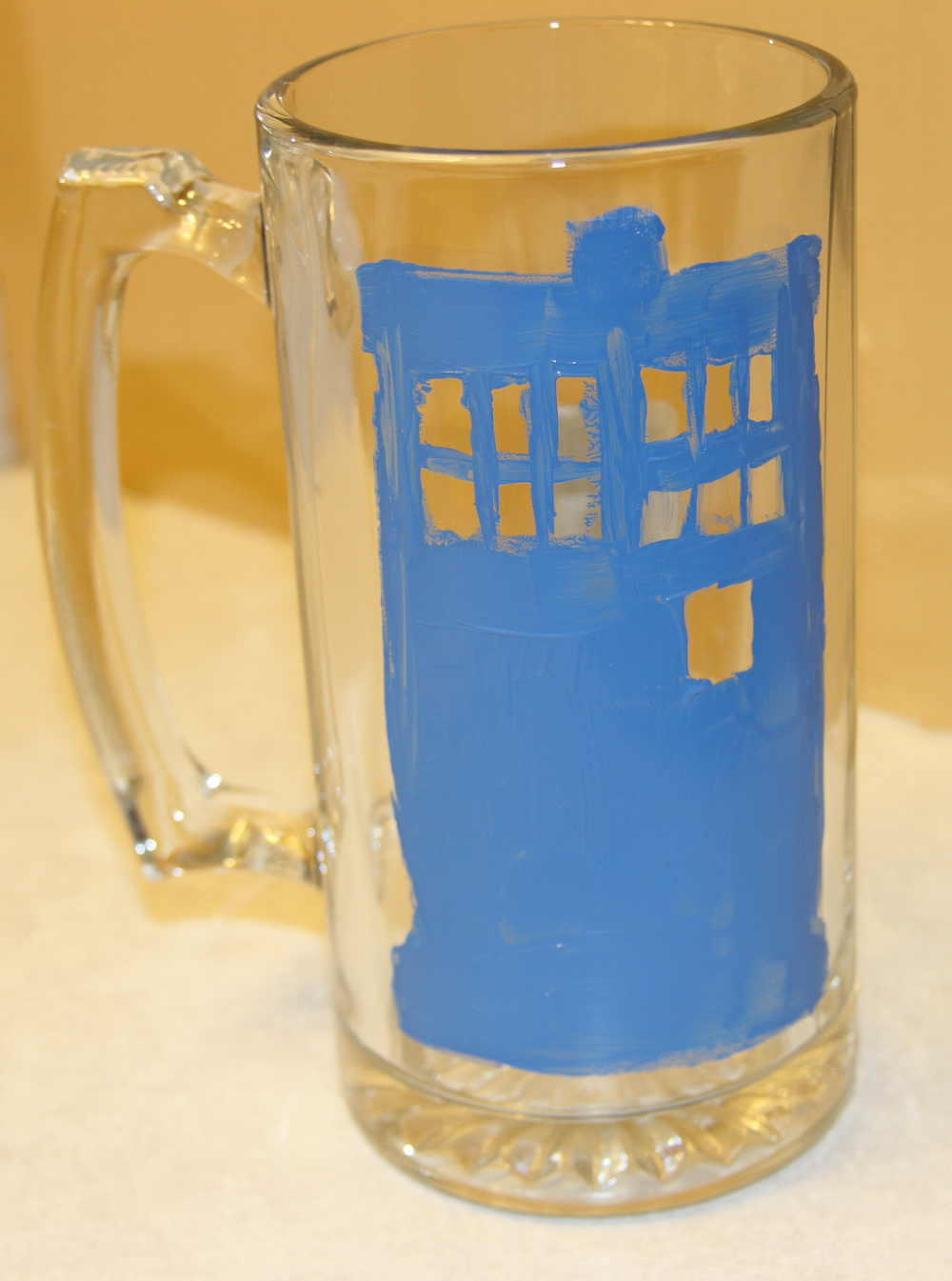 Glass Tardis Stamp