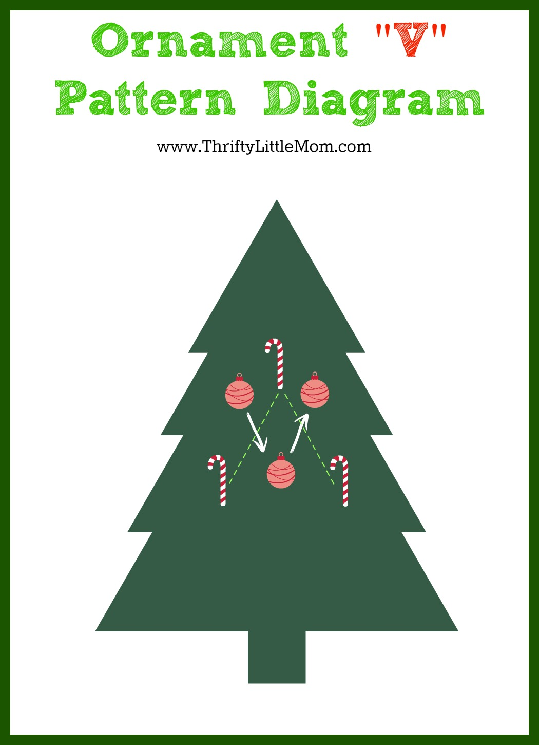 How To Trim Your Tree Like the Magazines Ornament Pattern