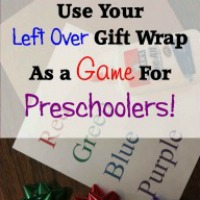 Turn Left Over Gift Wrap Into a Learning Activity