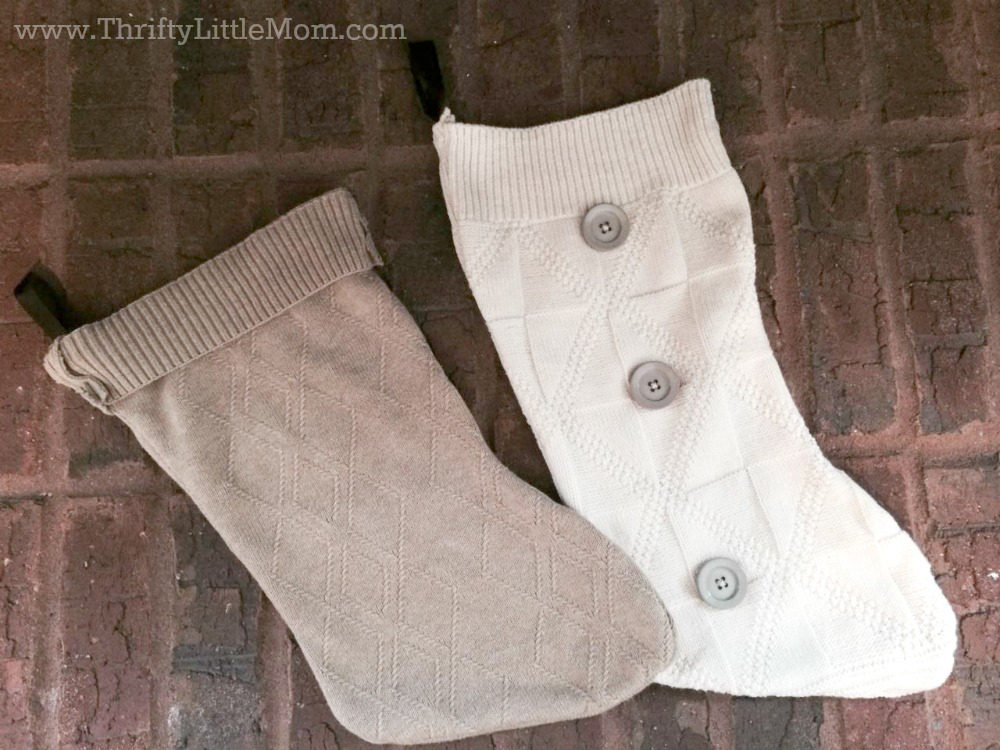 Make Your Own Sweater Stocking Finished Stockings