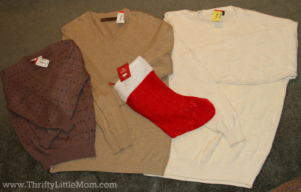 Make Your Own Sweater Stocking Supplies