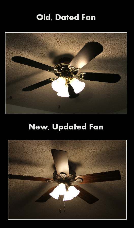 Home Renovation Before and After Old Fan and New Fan