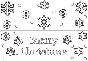 Printable Christmas Tag Sample 2 Snowflake
