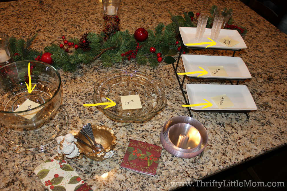 Thrifty Party Planning Tips & Tricks food set up