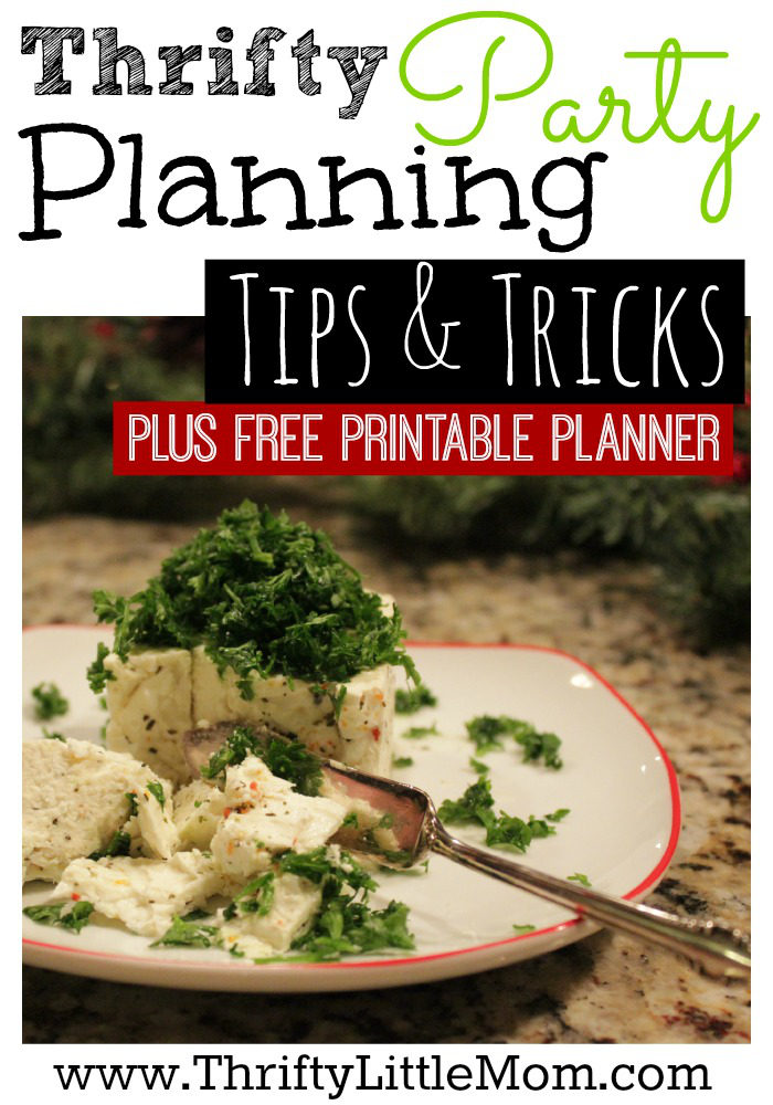 Thrifty Party Planning Tips and Tricks + Free Printable Planner. Throw amazing parties on small budgets.