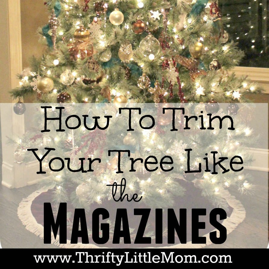 How To Trim Your Tree Like the Magazines