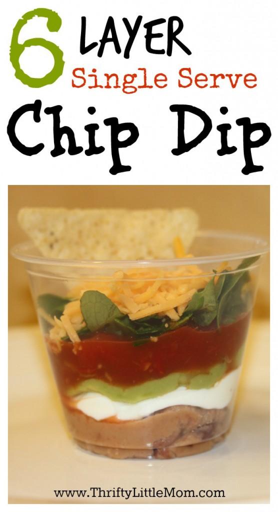 6 Layer Single Serve Chip Dip