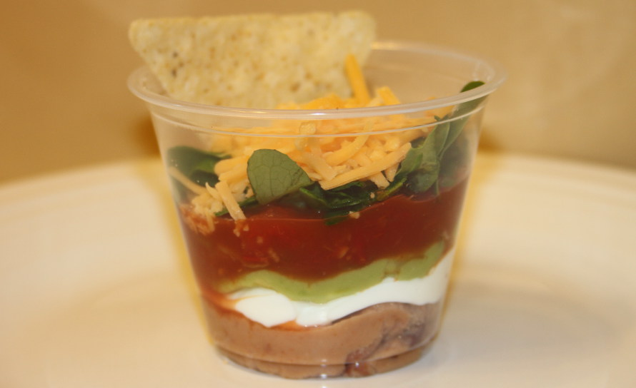 6 Layered dip Mexican party food ideas