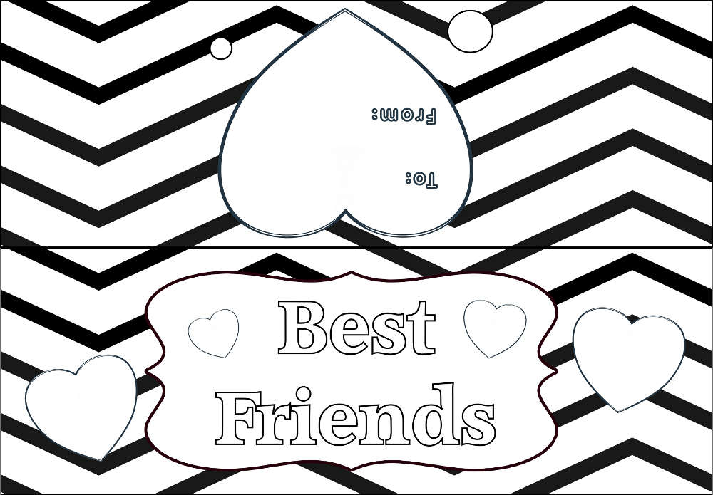 Best Friends Chevron PYO Bag Topper Preview Image