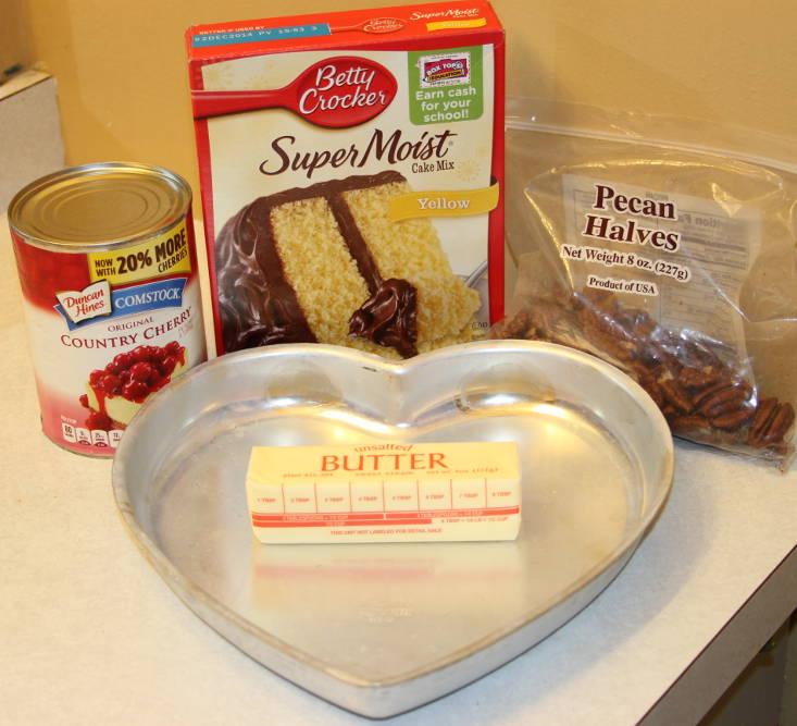 Cherry Crunch Cake Ingredients