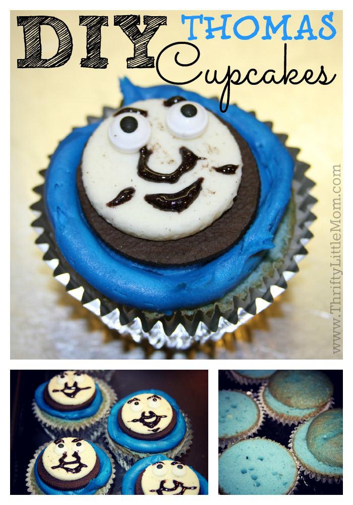 DIY Train Look-Alike Cupcakes