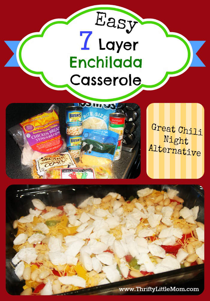Easy 7 Layer Enchilada Casserole
