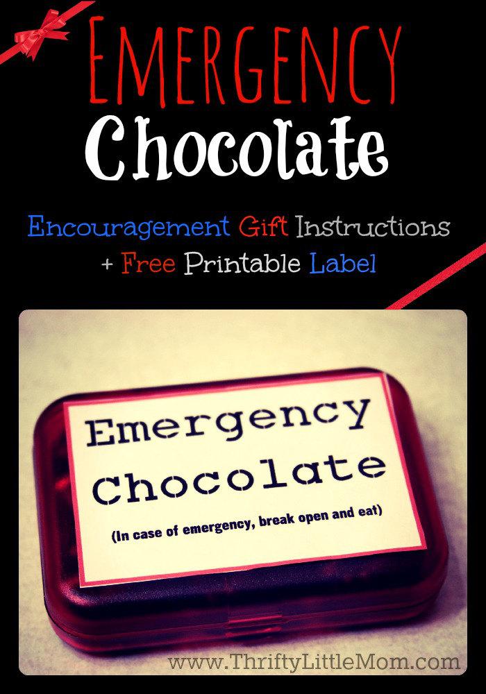 Diy Emergency Chocolate Kit Gift 187 Thrifty Little Mom