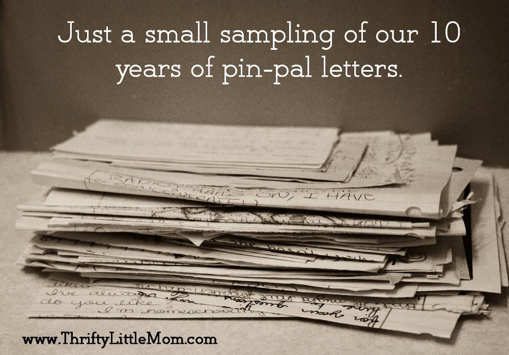 Friendship pinpal letters