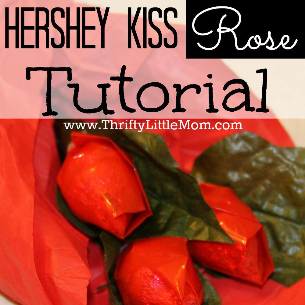 Hershey Kiss Valentine Roses Tutorial