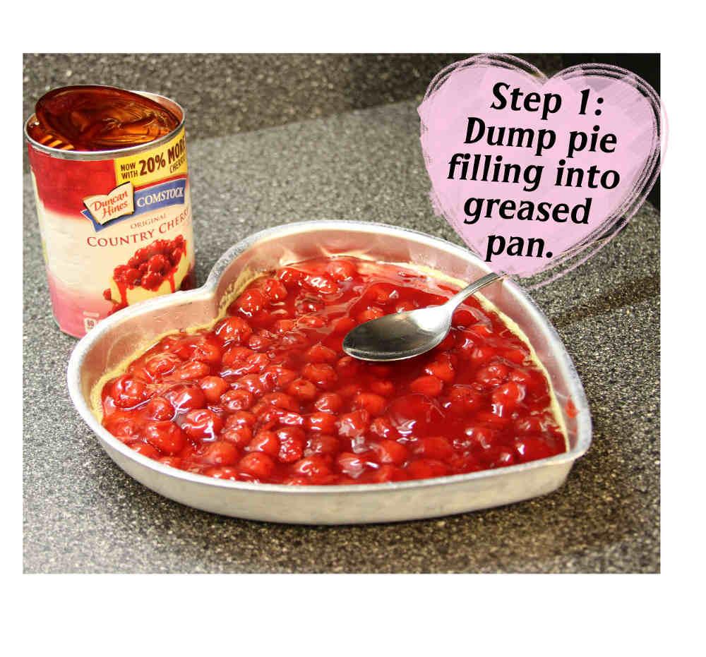 Step 1 Cherry Crunch Cake