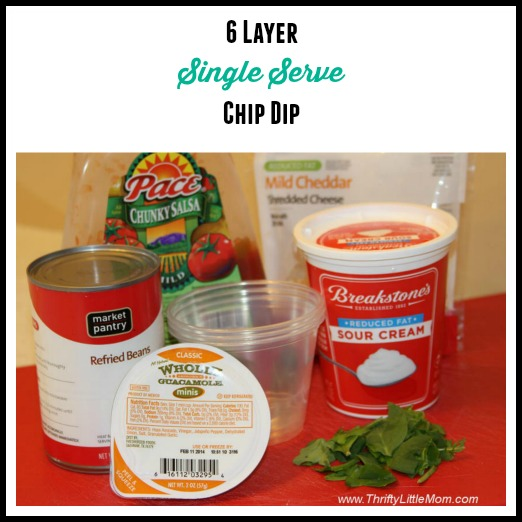Easy 6 Layer Single Serve Chip Dip