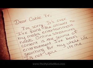 Breaking up with Cable Letter